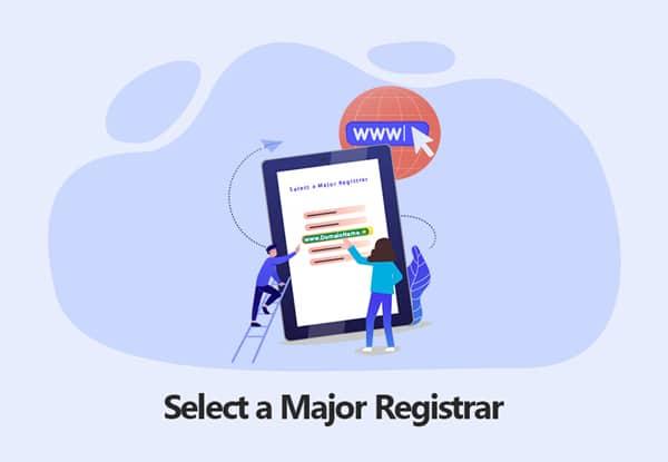 Select a Major Registrar