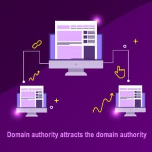 Domain authority attracts the domain authority