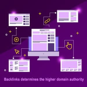 Backlinks determines the higher domain authority