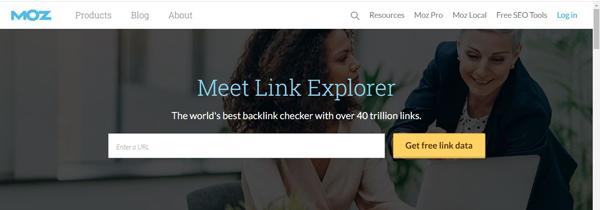 Moz Link Explorer Tool