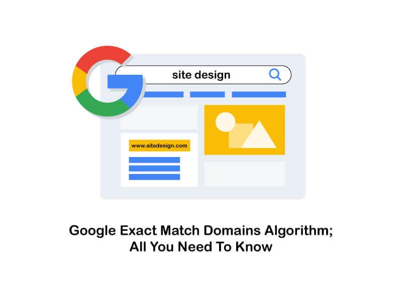 google exact match domains algorithm