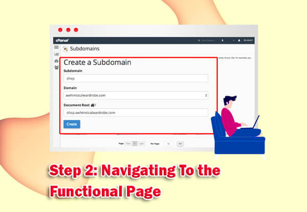 Step 2: Navigating To the Functional Page