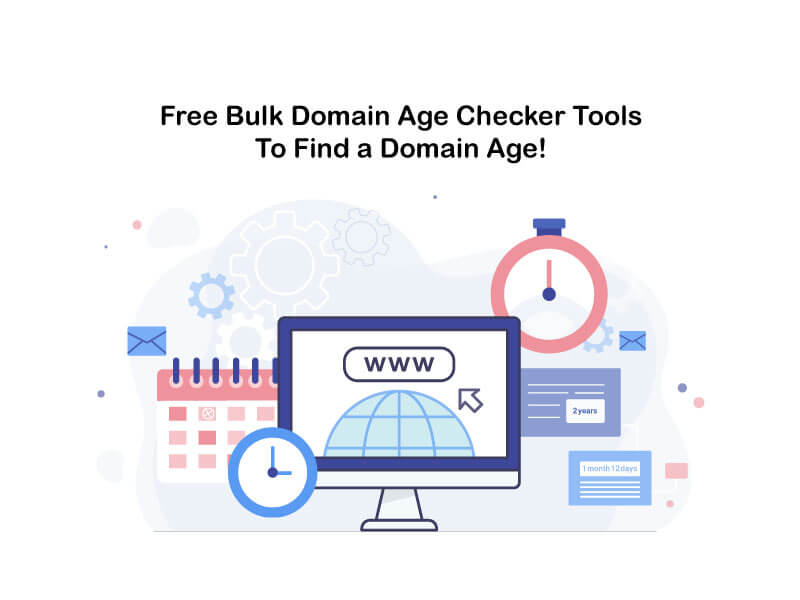free bulk domain age checker tools to find a domain age