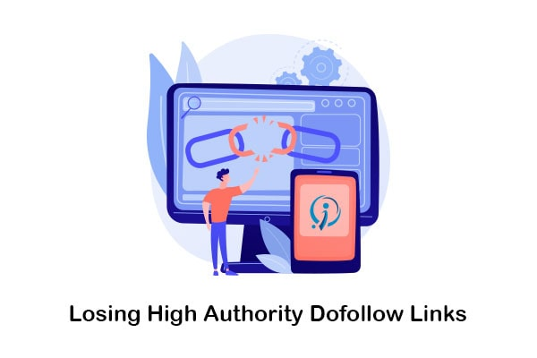 losing high authority dofollow links