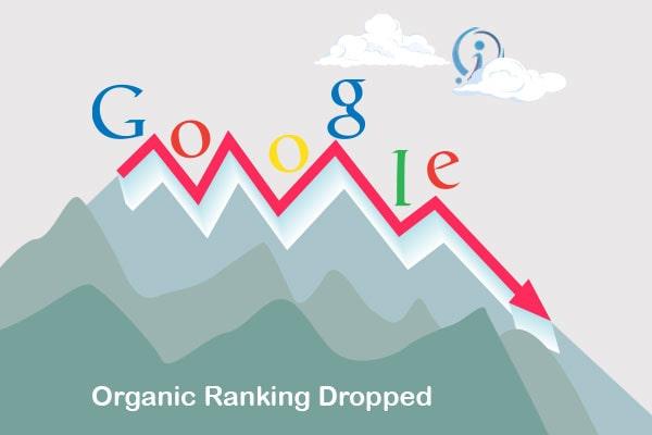 organic ranking dropped