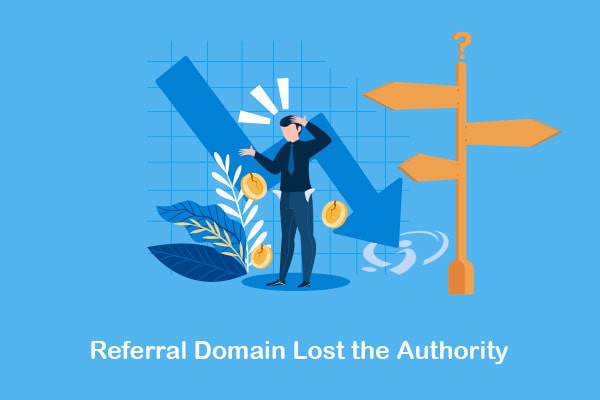 referral domain lost the authority
